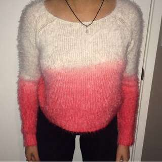Pink and White Jumper