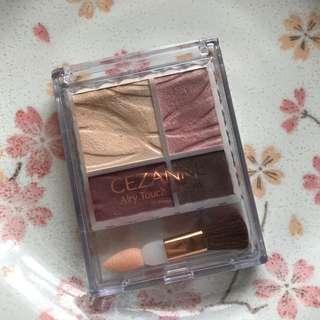 日本購入 CEZANNE 賽尚 酒紅色四色眼影盤