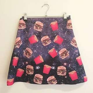 Junk Food in Space Skirt