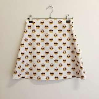 Sunglasses Emoji Skirt