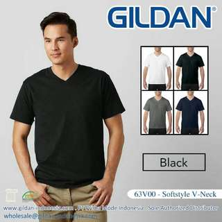 T Shirt V neck Gildan