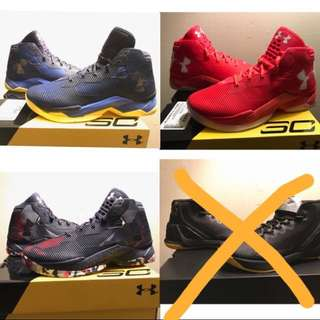 Under Armour Curry2.5 藍/紅/黑 尺寸9.5