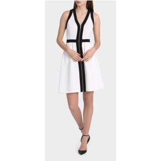 Tokito White And Black Dress