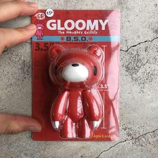 Gloomy bear 紅色暴力熊 / 手腳可動頭可以轉 /夢幻絕版品