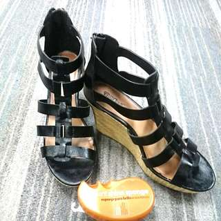 Repriced: Payless Black Wedge - US Size 10