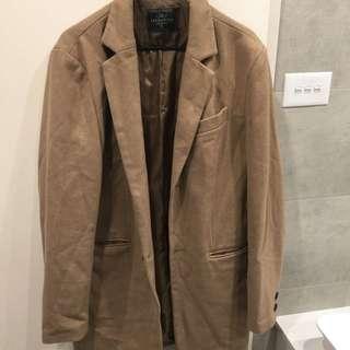 Wool Blend Camel Coat size XL