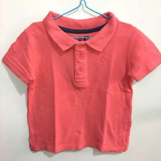 Cotton On Kids Polo Shirt Coral
