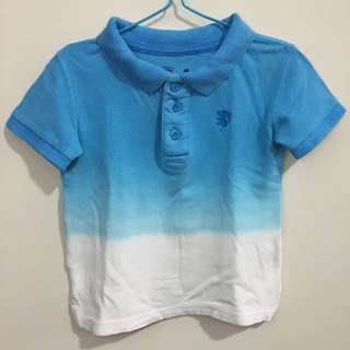 Cotton On Kids Polo Shirt Blue Ombré