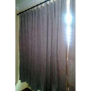 92% Blackout/Sunblock Curtain in Linen/Cotton (Grey Colour)