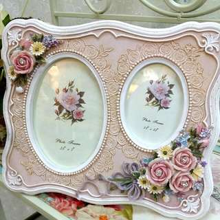 Vintage Romantic Victorian Rose Twin Photo Frame (19)