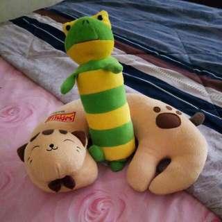 Boneka Frog Sama Bantal Leher Miaow