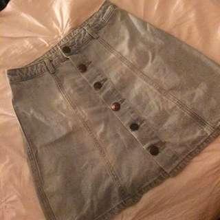 Cotton On A Line Denim Skirt