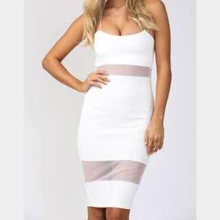 Pop cherry White Mesh Dress