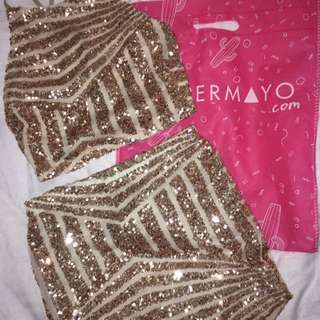 ROSE GOLD SEQUIN SET - PEPPERMAYO