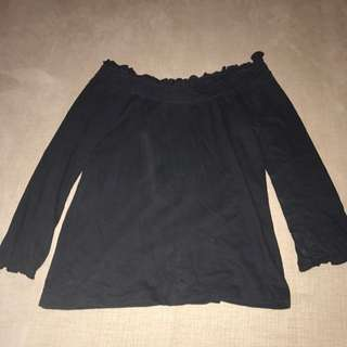 Black Off Shoulder Top Size 10