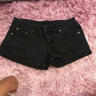 Size 8 Black Denim Shorts