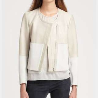 Helmut Lang Motion Leather and Ponte Jacket