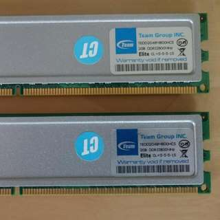 2 x 2GB CL5 TEAM DDR2 DUAL CHANNEL  PC2-6400
