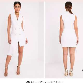 White Blazer Dress Tuxedo Dress