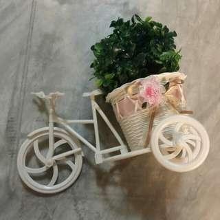 White Bike Pots