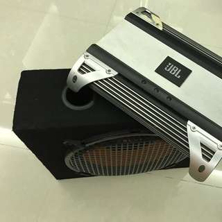 JBL amplifier and Oris woofer for sale !!