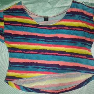 Multicolored Summer Cropped Top