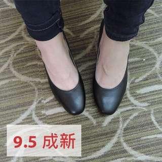 阿瘦皮鞋-基本款OL低跟鞋(黑) 9.5成新