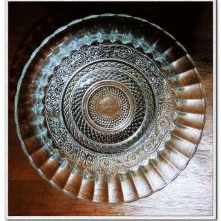 印度立體雕花水晶玻璃大砵水晶水果盤點心碗