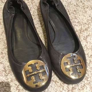 Price Drop! Tory Burch Brown Leather Flats