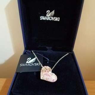 🎉降價大優惠🎉Swarovski 施華洛水晶粉紅心型頸鏈