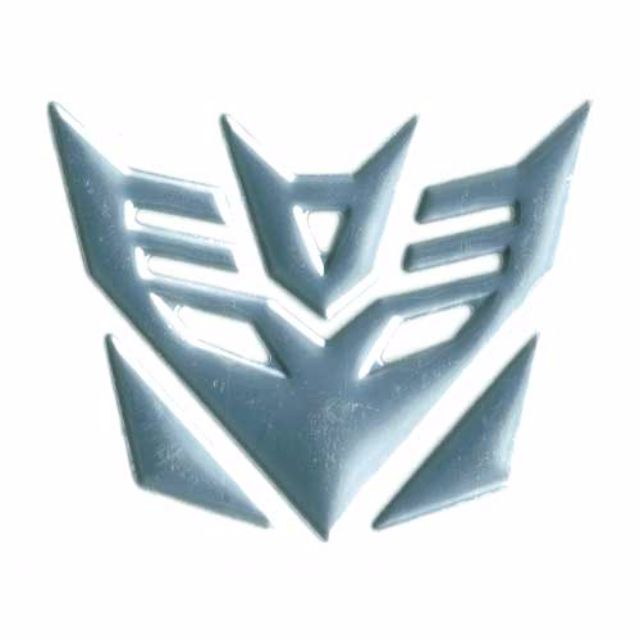 3d Transformers Decepticons Symbol Car Accessories On Carousell
