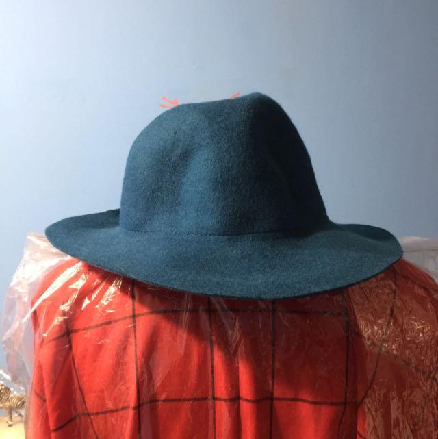 藍綠色紳士帽
