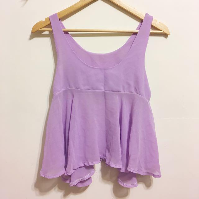 粉紫雪紡背心