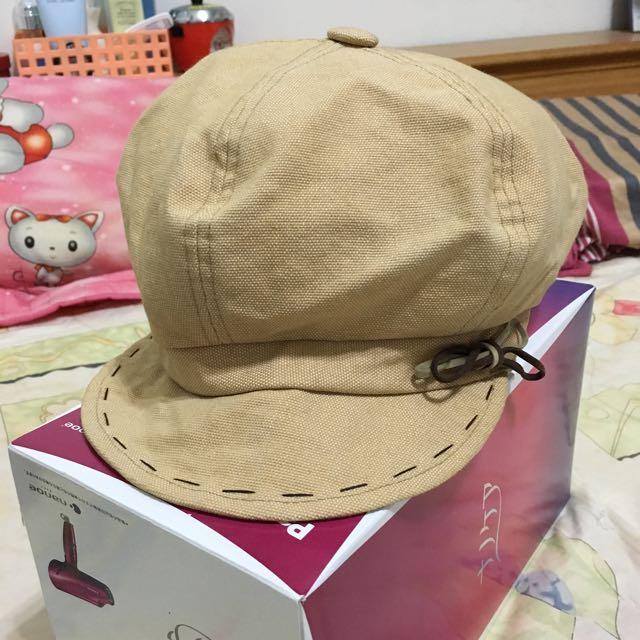 時尚畫家帽(杏色)