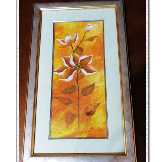 銀框金邊框現代花卉畫/壁飾/掛飾~~居家/佈置/擺飾家飾玄關裝飾畫
