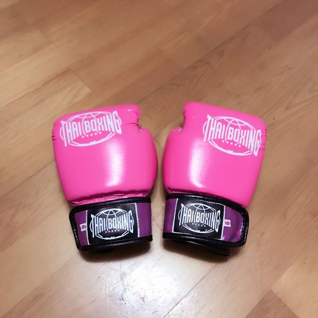 全新拳擊手套粉紅色
