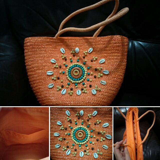 海洋風 手工貝殼編織包
