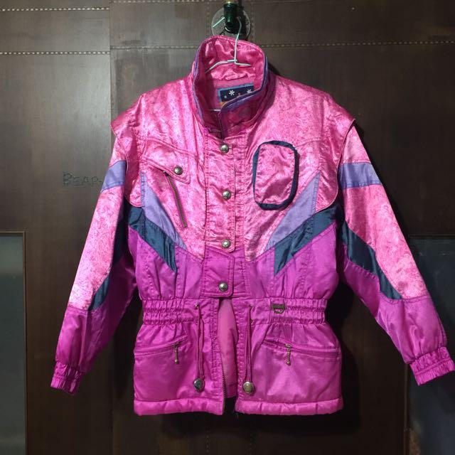 復古 古著 粉紅 雪衣