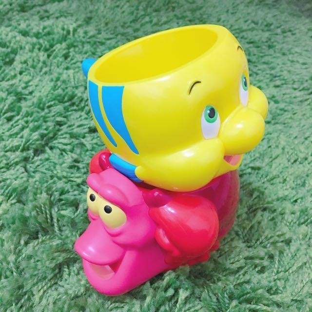小美人魚 小比目魚 塞巴斯丁 點心盒 點心杯 東京迪士尼 迪士尼 公仔 塞巴斯丁