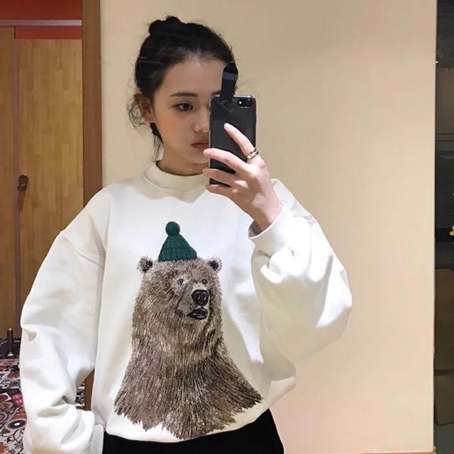📦 Big Bear White Sweater