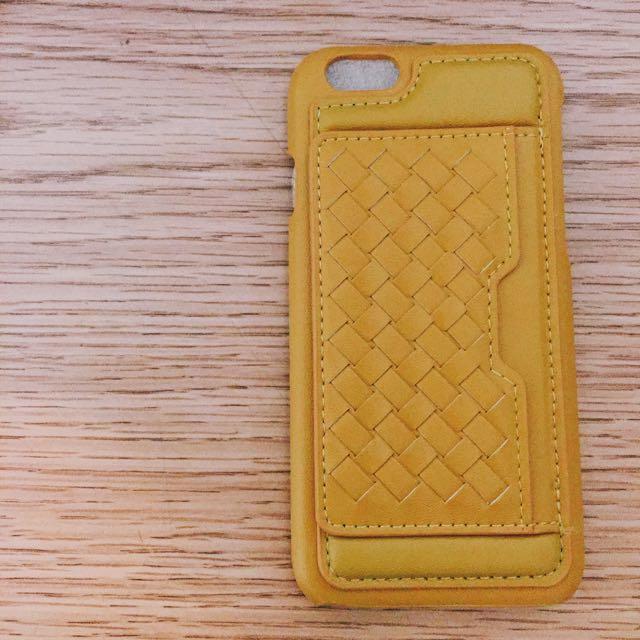 【含運】皮質編織插卡手機殼/iPhone6 i6