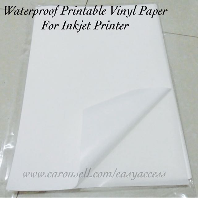 graphic relating to Printable Vinyl Sticker Paper identified as 🎀 Geared up Inventory 🎀 Water resistant Printable Vinyl Adhesive Paper