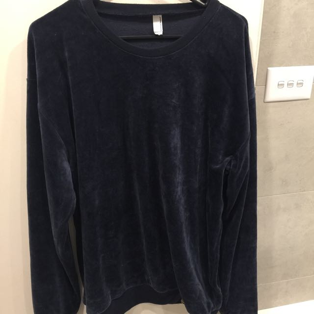 American Apparel Velour Jumper size L