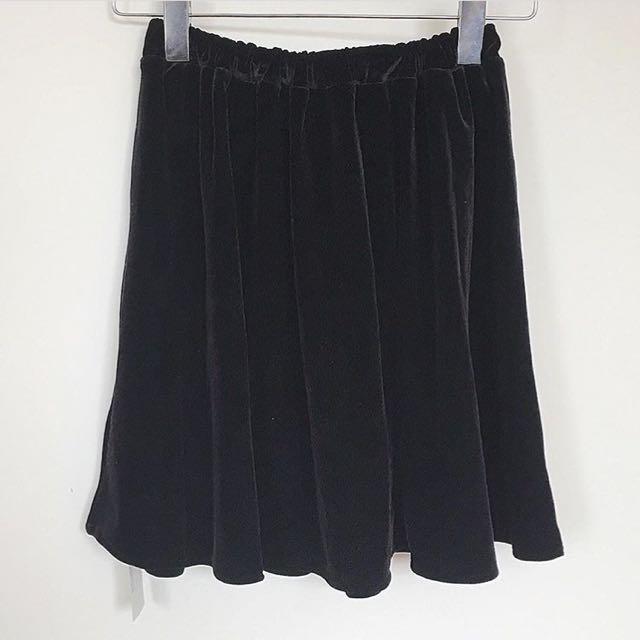 American Apparel Velvet Skirt