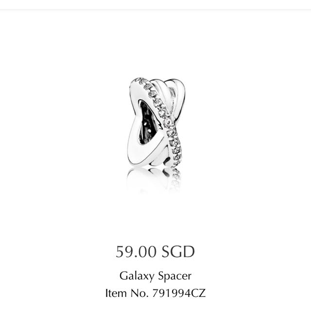 805a52e98 Authentic Pandora Galaxy Spacer PO, Women's Fashion, Accessories on ...