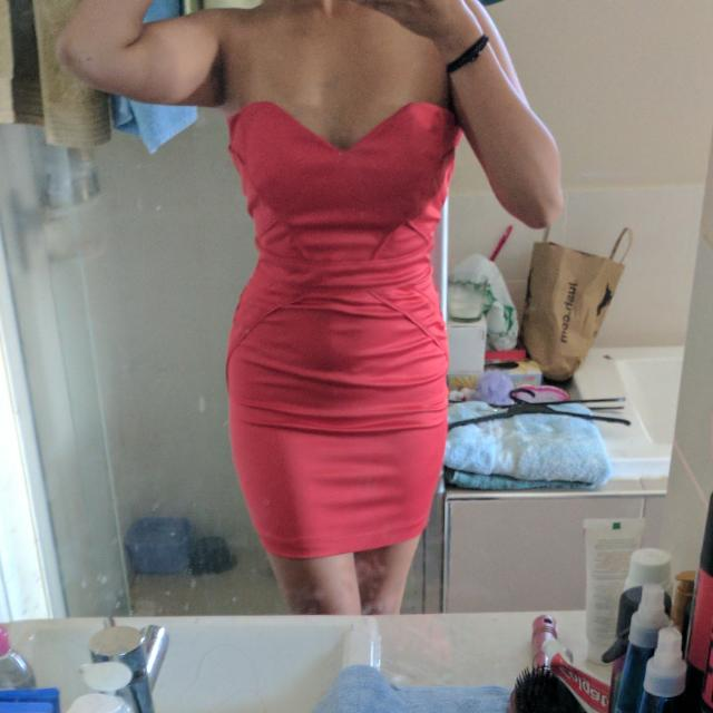 Bardot - Strapless Hot Pink Bodycon Dress Size 8
