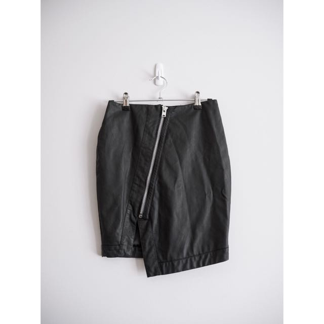 Bardot Asymmetric Zip Skirt