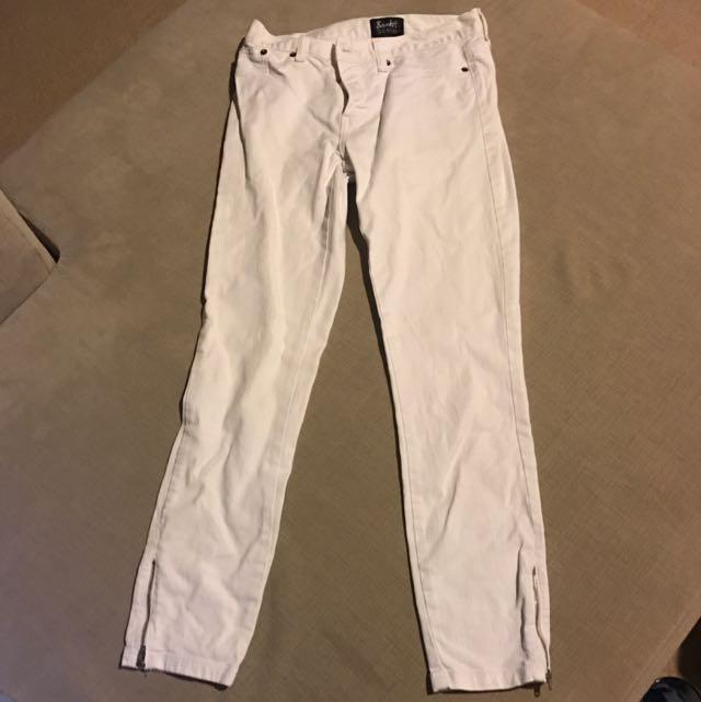 Bardot White 3/4 Jeans