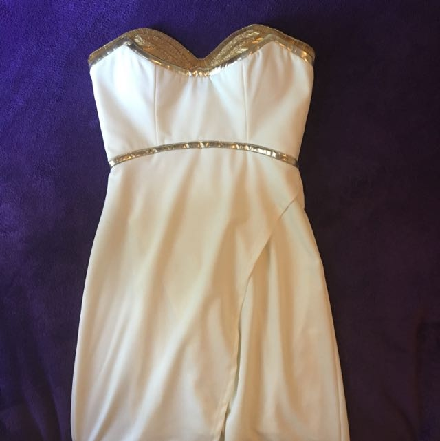 Bariano Strapless Formal Dress