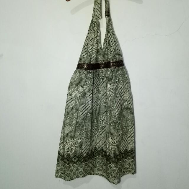 Batik V Open Backless Dress